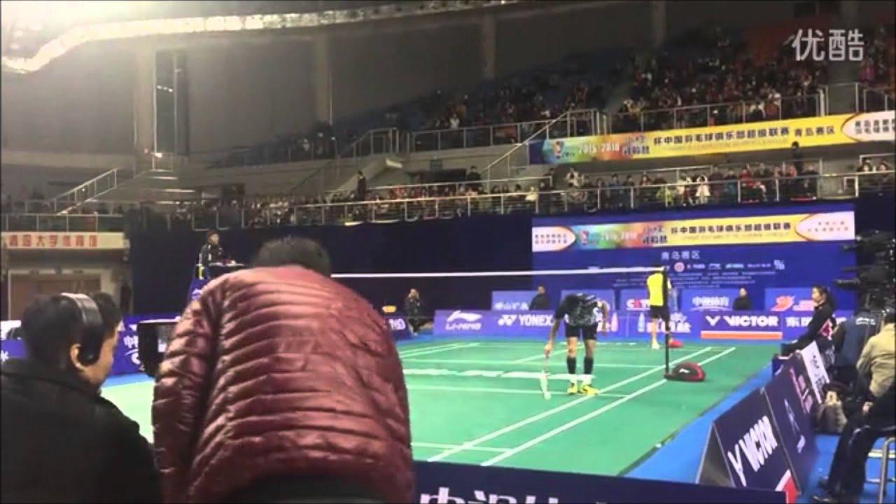 Badminton 2015 - Lin Dan - Nice Camera Angle(China Badminton League 2015)[Long Version]