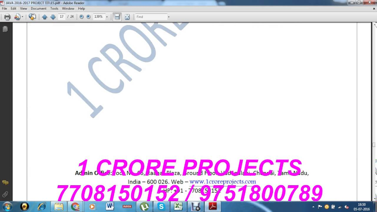 2016 - 2017 IEEE Projects | 2016 Java IEEE Projects list | Final year  Students projects 2016