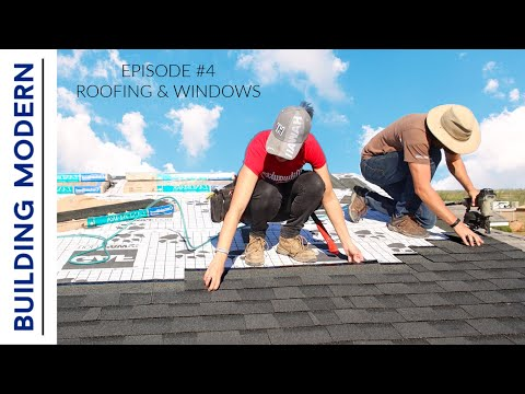 DIY Roof \u0026 GIANT Windows Install | Ep. 4 Building Modern On A Budget