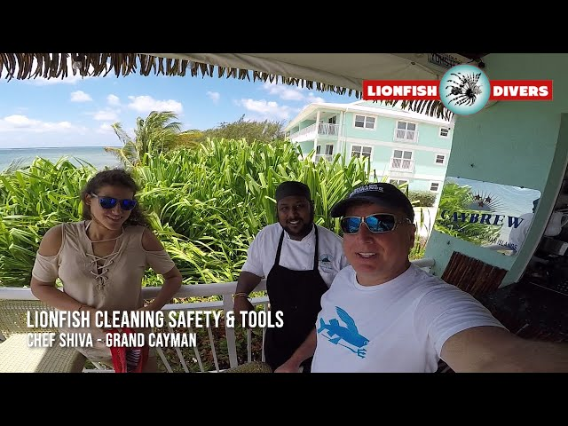 Lionfish Cleaning Safety & Tools- Chef Tells About Getting Stung Also