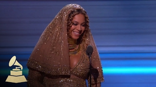 beyoncé wins best urban contemporary album acceptance speech 59th grammys