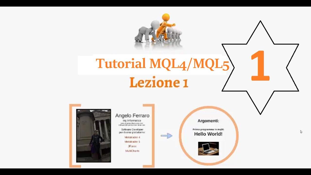 Corso base MQL4/MQL5 - Lezione 1 (