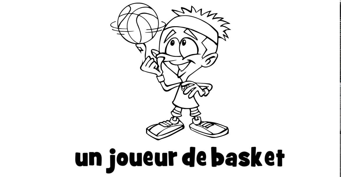 1 dessin par jour un joueur de basket youtube - Dessin basket ...
