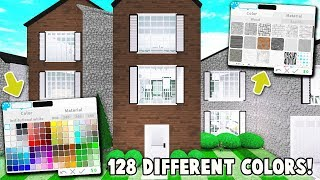 I BUILT This HOUSE Using EVERY COLOR and TEXTURE On BLOXBURG! (Roblox)