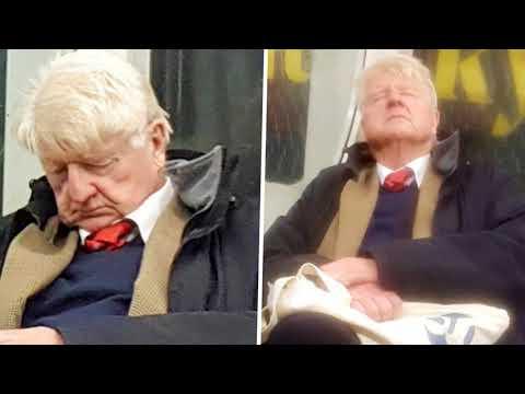 Boris Johnson's dad spotted 'posh snoring' on the Tube