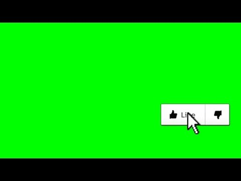 Animated Youtube Like Button - Green Screen Overlay ! - YouTube