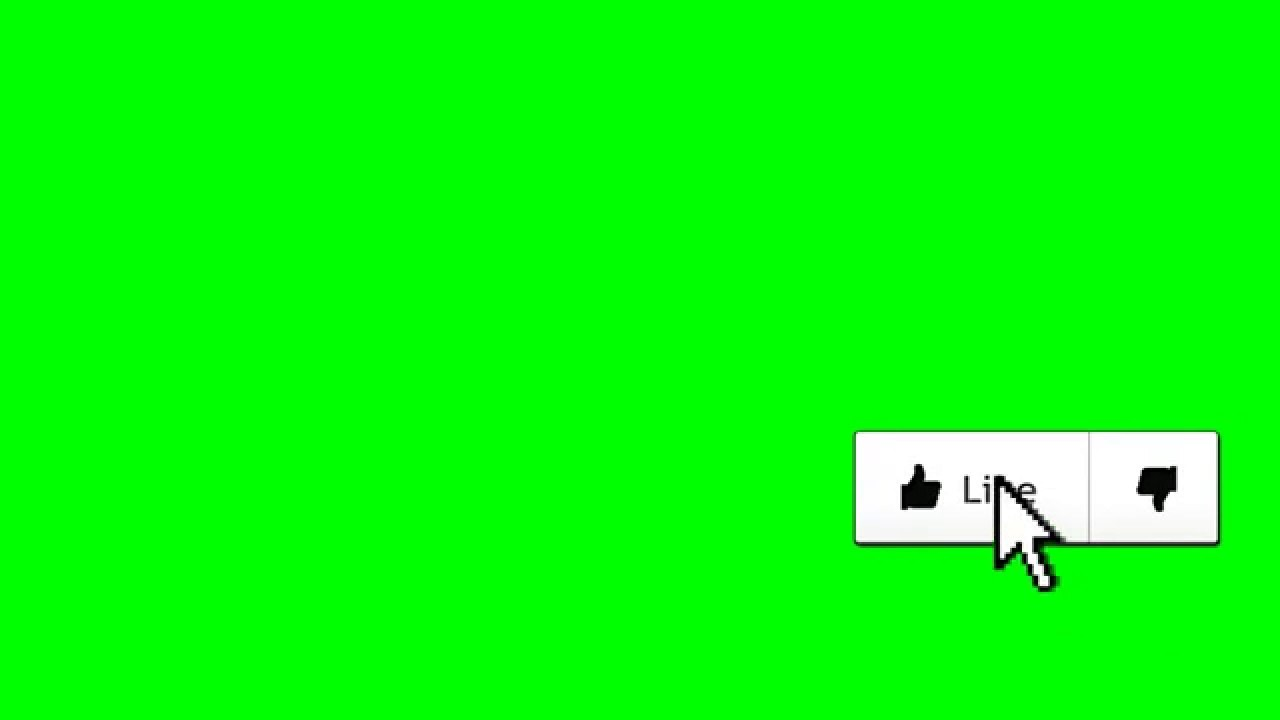 Animated Like Button Green Screen Overlay