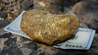 Finding BIG gold with the Fisher Gold Bug 2 - Dredge Tailing Pile two pound Nugget/Specimen!
