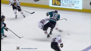 Duncan Keith vs Andrew Desjardins Feb 5, 2013