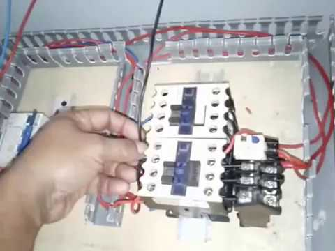 Workshop Electrical Engineering. First Time Work on Panel for Foward Reverse Control Motor 3 Phase
