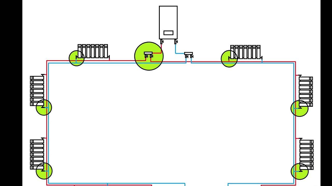 Схема системы отопления видео фото 277