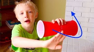 Magnus Effect! Flying Kids Science Lesson Home School!