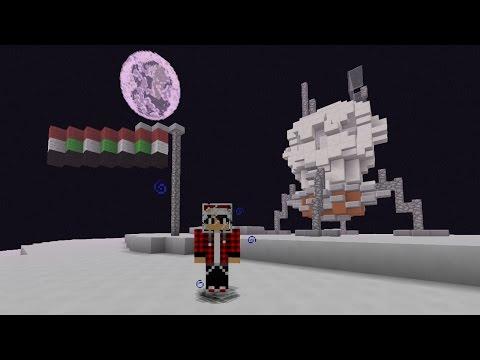 الهبوط على سطح القمر لأول مره في ماين كرافت !