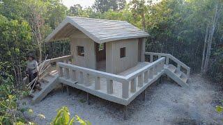 Amazing Girl Build The Most Beautiful Villa Around Swimming Pool Part1