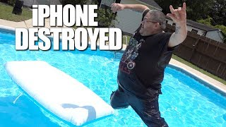 CRAZY NEW CHALLENGE!! (DESTROYED MY IPHONE!!)