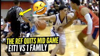 They Made The Ref QUIT Zaire Wade Meets SAUCY Guard Emmanuel Maldonado In 1st AAU Game