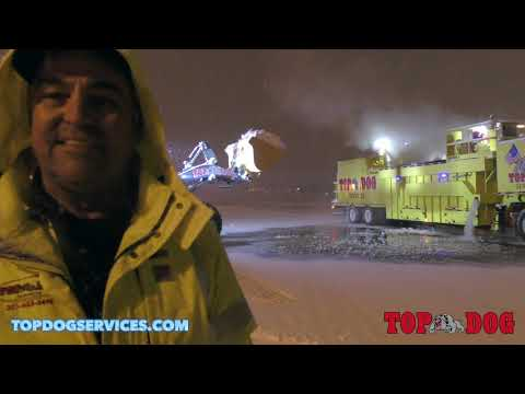 TDS Winter Storm Gia - Snow Removal & Melting Operations At Washington Dulles International Airport