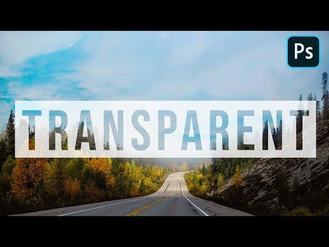 Transparent Text Effect | Simple Method | Photoshop Tutorial 2020