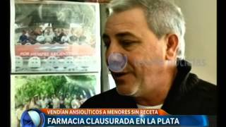 Farmacia clausurada en La Plata - Telefe Noticias 2017 Video