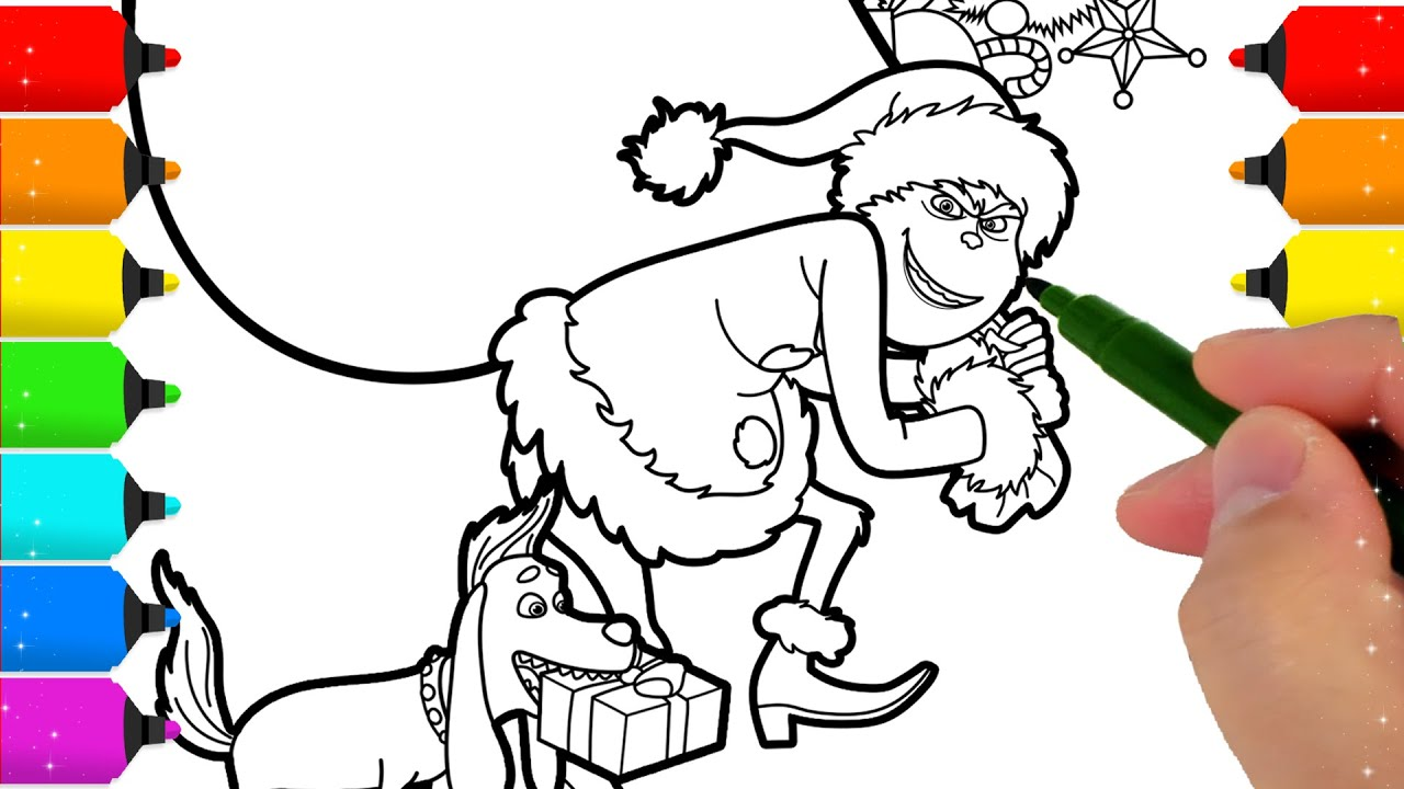 The Grinch Coloring Page - YouTube