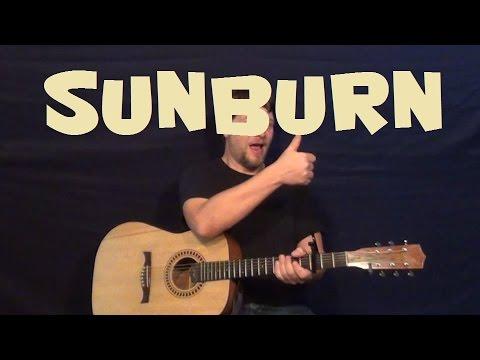 Sunburn (Owl City) Easy Guitar Lesson How to Play Tutorial - YouTube