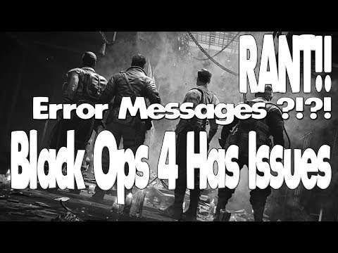 Error code CE 34878-0 Message! Black Ops 4 Bugs & Glitches