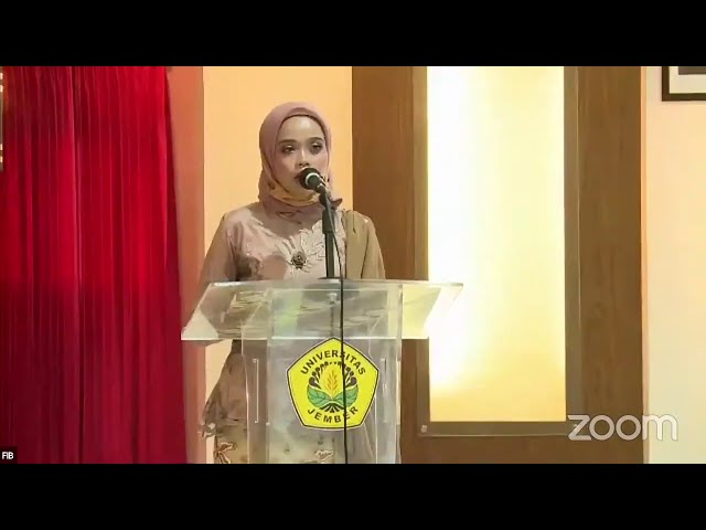 Sambutan wakil yudisi Anita Ayu Nuraini,S.S