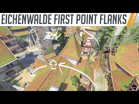 Useful Eichenwalde first point flanks and techniques // Overwatch Eichenwalde Map Guide and Tutorial