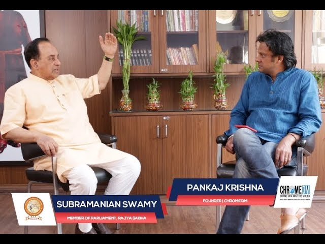 Chrome Talkies Season 2: Episode 1 - Subramanian Swamy | Member of Parliament, Rajya Sabha
