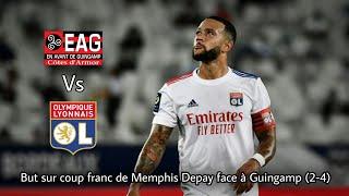 But sur coup franc de Memphis Depay contre Guingamp (2-4) 2018