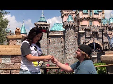 Best Disneyland Proposal Ever Sleeping Beautys Castle Disney