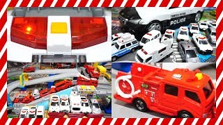 Police cars, fire engines, construction vehicles ☆ mini car toys for toddlers and kids