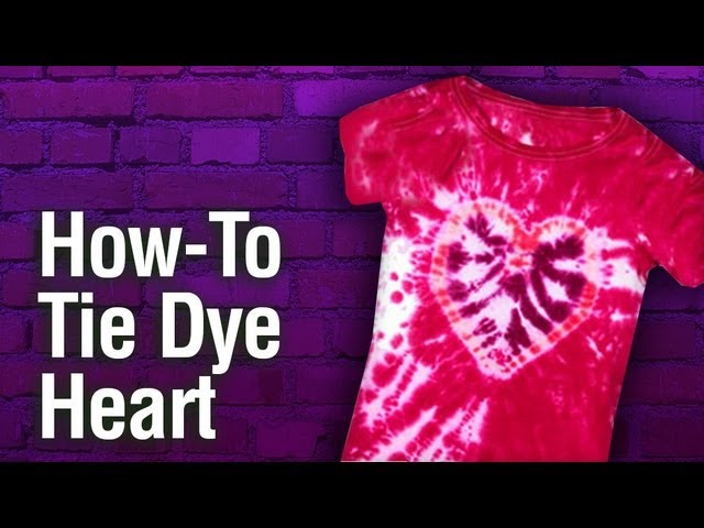 How To Create Tulip Tie Dye Heart Youtube