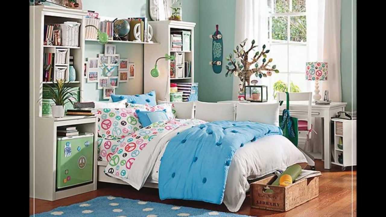 Teen bedroom ideas designs for girls youtube - Medium size room decoration for girls ...