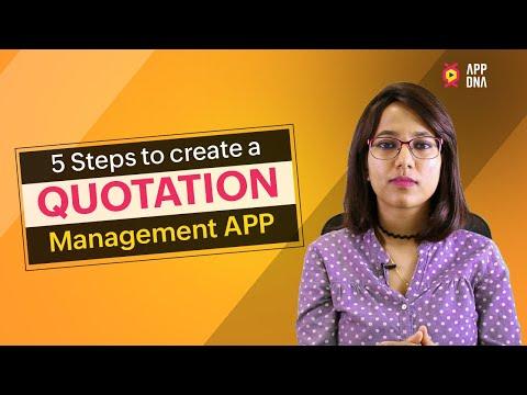 Build Quotation Management App in 5 steps