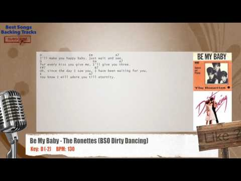 Be My Baby - The Ronettes (BSO Dirty Dancing) Vocal Backing Track with chords and lyrics