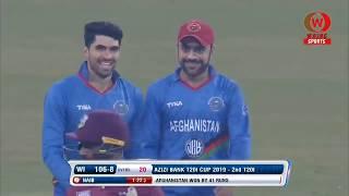 Afghanistan vs West Indies 2nd T20 2019 Tri Series Highlights