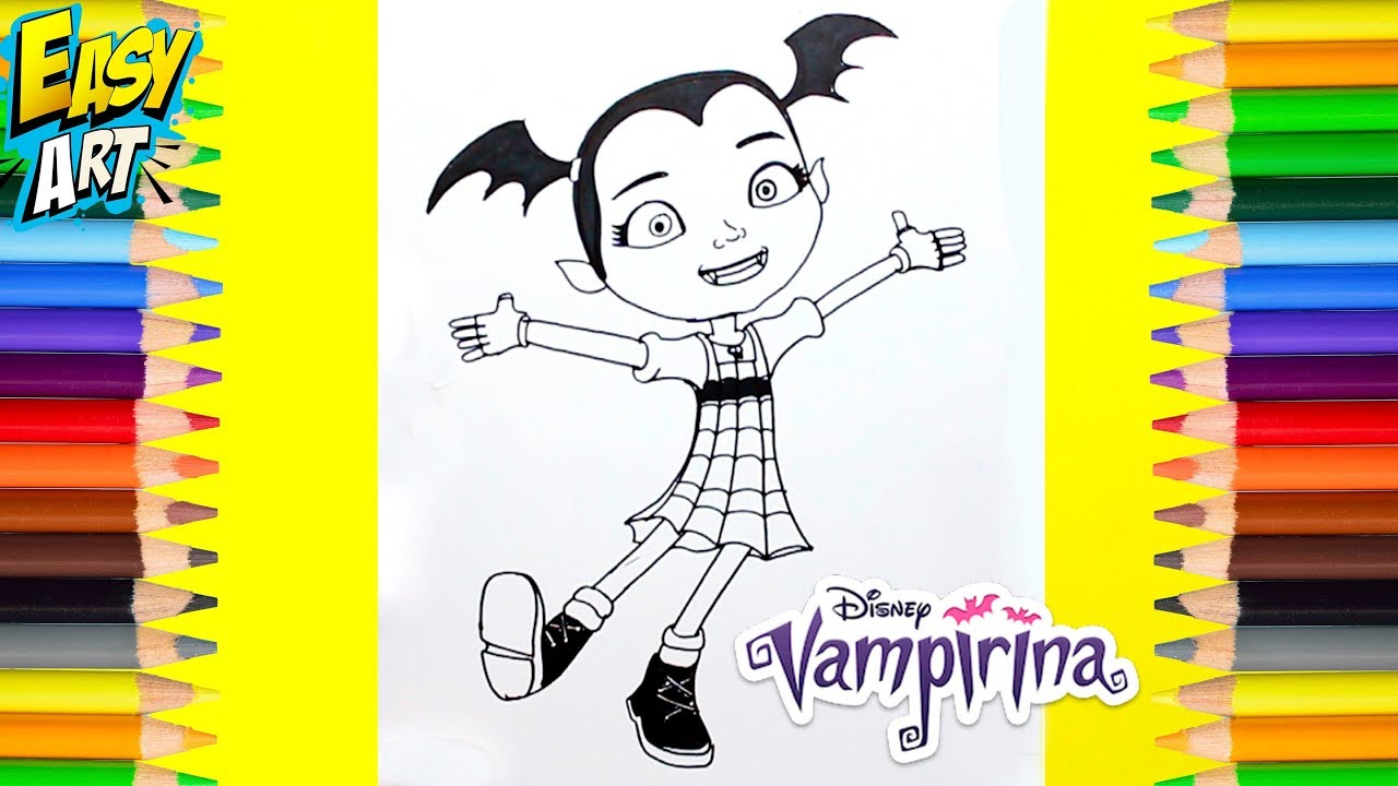Vampirina Dibuja Y Colorea Como Dibujar A Vampirina How To Draw Vampirina Coloring Pages