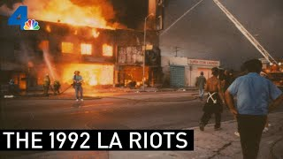 Footage Throughout the Rodney King Trial and Subsequent 1992 LA Riots | From the Archives | NBCLA