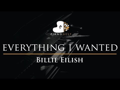 Billie Eilish - Everything I Wanted - Piano Karaoke Instrumental Cover With Lyrics