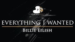 Billie Eilish - everything i wanted - Piano Karaoke Instrumental Cover with Lyrics