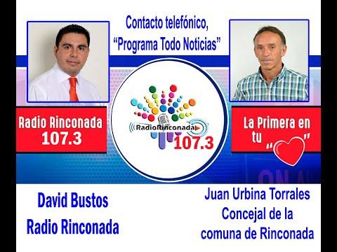 Juan Urbina Torrales, concejal de la comuna de Rinconada