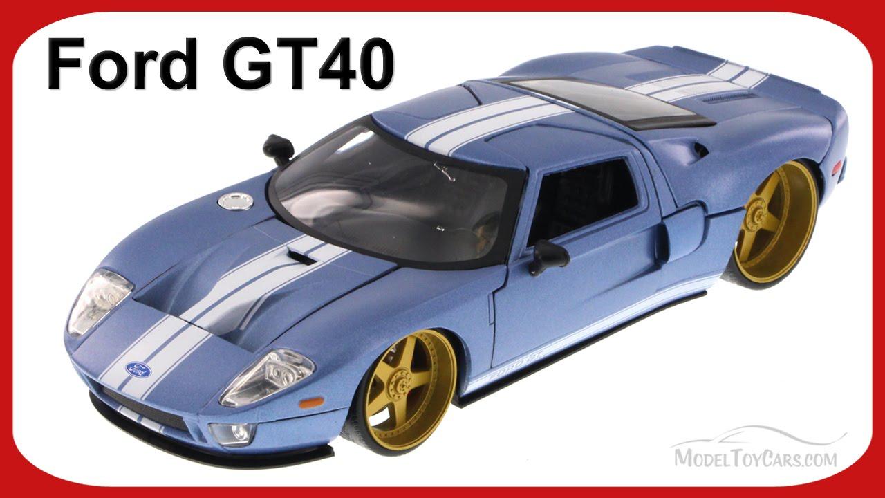 Ford Gt Blue Jada Toys Ab   Scalecast Car