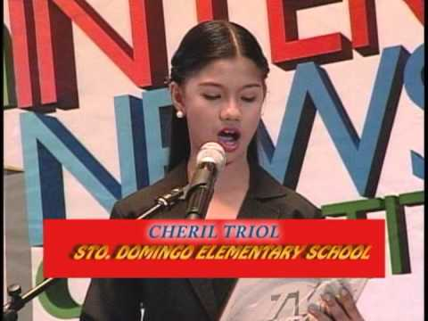 ABS CBN Iloilo   Newscasting Competition 2013   VTR   Elementary Filipino Finalists