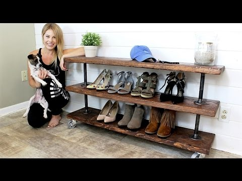 The Industrial Shelving Unit Easy Diy Project Youtube