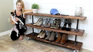 The Industrial Shelving Unit - EASY DIY PROJECT