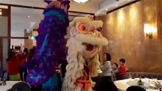 Xia Quan lion dancing in Grand Garden Restaurant Rotterdam