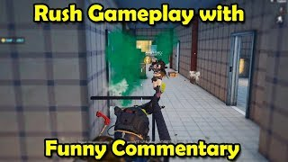 Rush Gameplay with Funny Commentary in PUBG Mobile - RajGaming