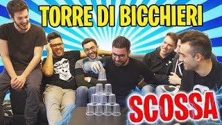 FARE UNA TORRE DI BICCHIERI CON LA SCOSSA w/ IlluminatiCrew