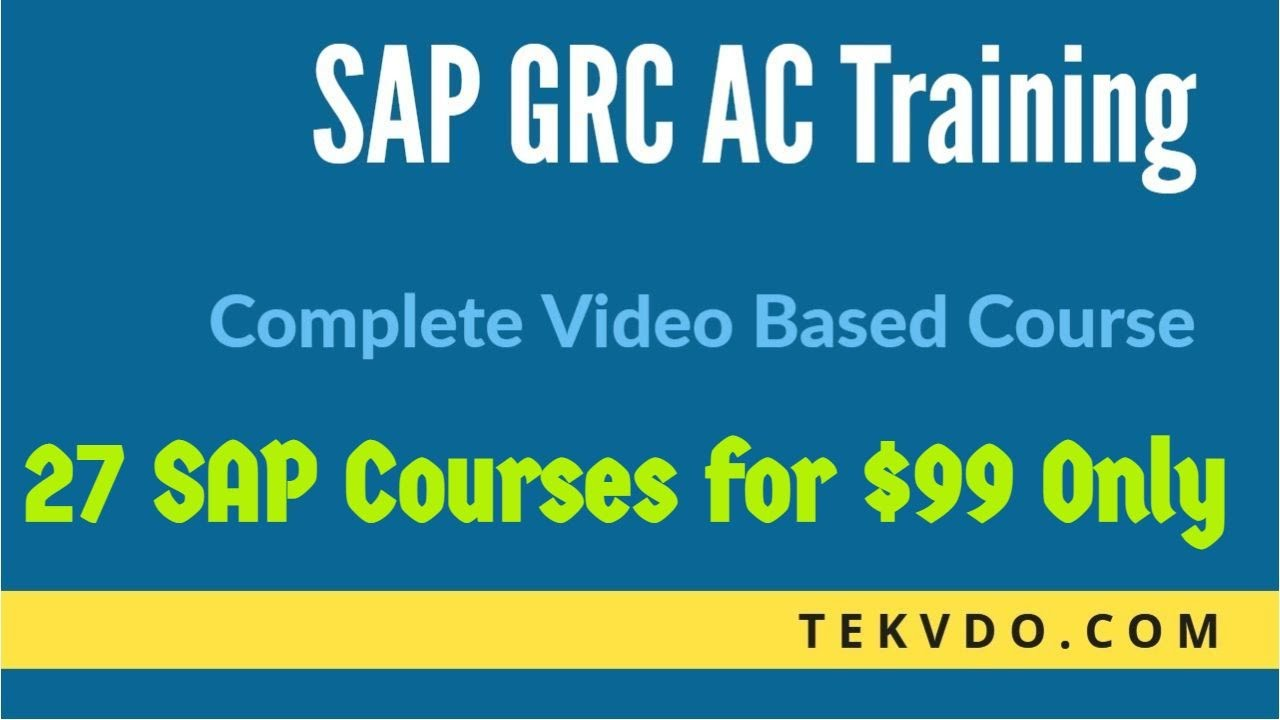 SAP GRC Training - Complete SAP GRC 10.1 Video Based Course